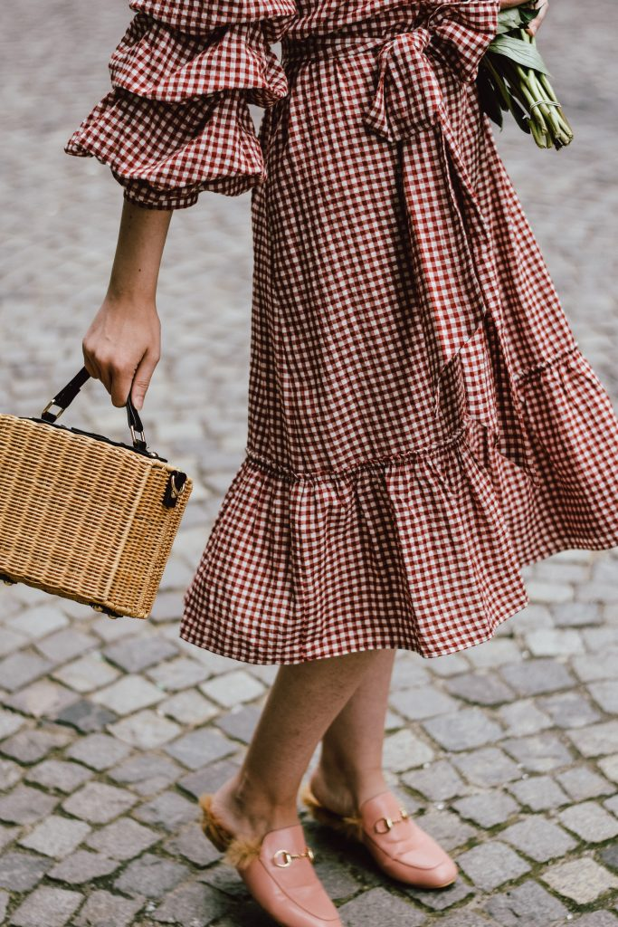 coupon codes closer at autumn shoes Zara-red-midi-gingham-dress-fluffy-pink-gucci-mules-gucci ...